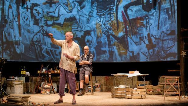 Jordi Rebellón y Alberto Jiménez, en una escena de la obra
