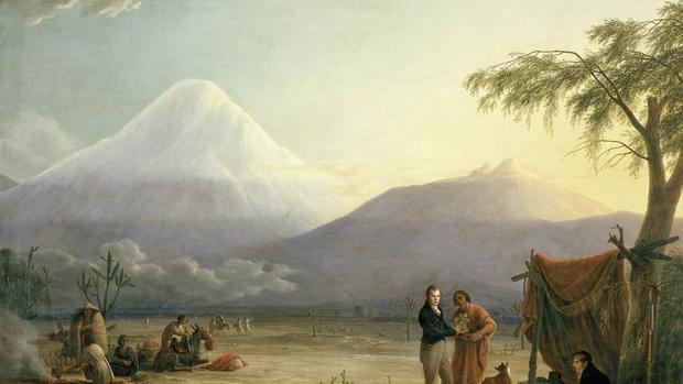 «Humboldt y Aimé Bonpland en el volcán Chimborazo», obra de Friedrich Georg Weitsch
