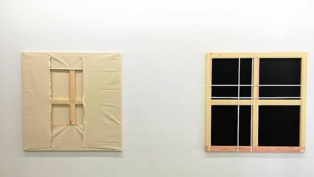 Dos de las piezas de «Penélope», de Pep Agut, en la Galería Àngels Barcelona