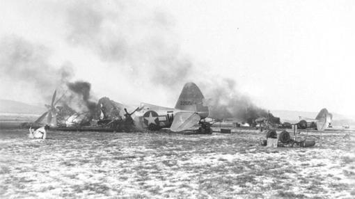 Aviones destruídos en la operación