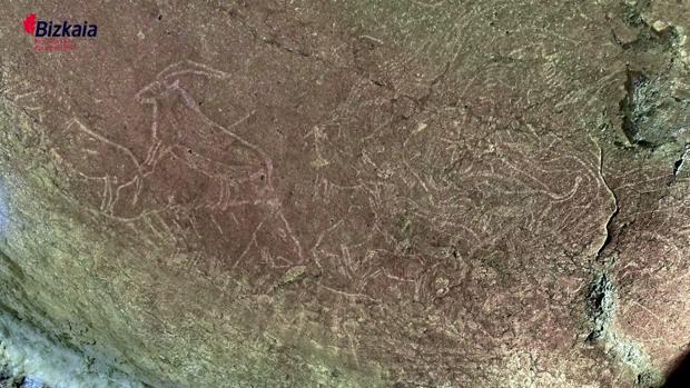 Grabados hallados en la cueva de Lequeitio