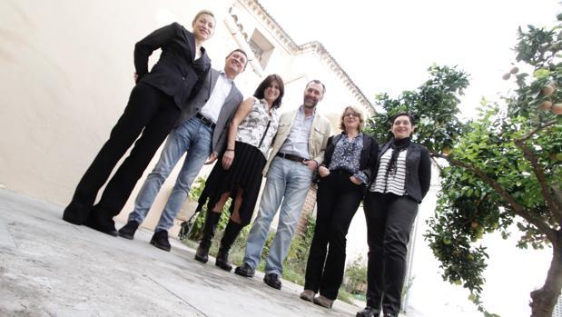Vadillo, Tamarit, Morales, Pérez Valencia, Ferrand y Sánchez en la presentación de ARTSevilla