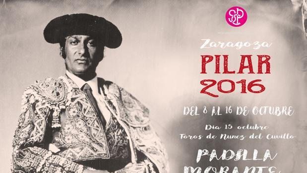 Cartel publicitario de la Feria del Pilar