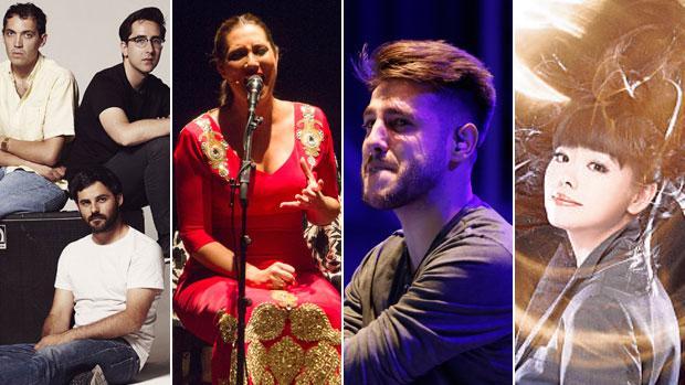 Delorean, Marina Heredia, Antonio José e Hiromi Uehara, estarán en Sevilla este fin de semana