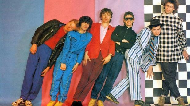 The Boomtown Rats. Johnnie Fingers es el segundo por la derecha, junto a Bob Geldof