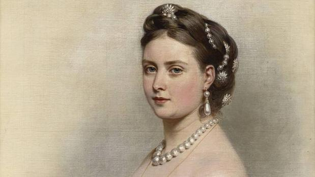 La princesa Victoria en 1867 (retrato realizadopor Franz Xaver Winterhalter)
