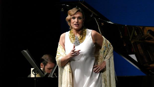 La soprano Ainhoa Arteta el pasado mes de enero