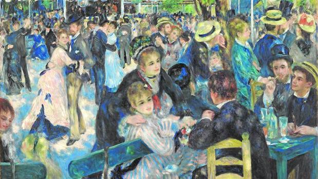 El «Bal du Moulin de la Galette» (1876) es la joya de esta exposición