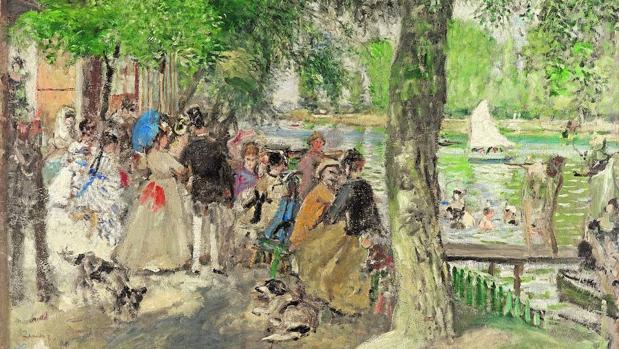 «Baños en el Sena (La Grenouillère)», óleo pintado por Renoir en 1869