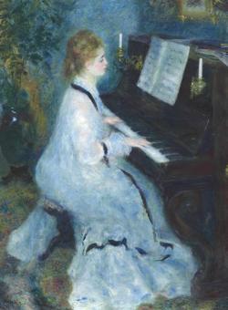«Mujer al piano», de Renoir