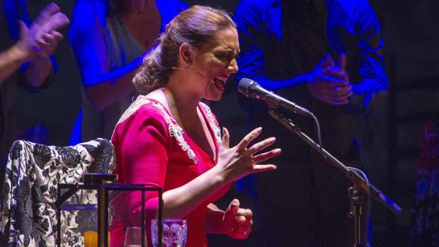 Marina Heredia, durante su actuación en la Bienal de Flamenco de Sevilla