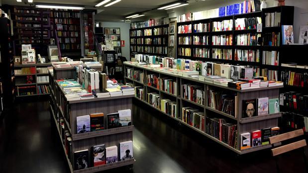 Imagen del interior de la librería Los portadores de sueños
