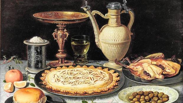 «Mesa con mantel, salero, taza dorada...» (c. 1611)