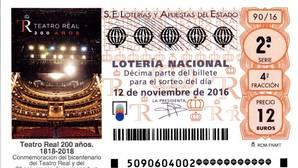 El Teatro Real y Lotería Nacional, un matrimonio bien avenido