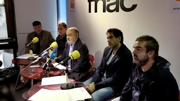 Productores andaluces, entre los que se encontraban Manuel Gómez Cardeña, Gervasio Iglesias y Olmo Figueredo