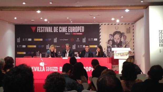 Vincent Lindon, en rueda de prensa en el Festival de Cine Europeo