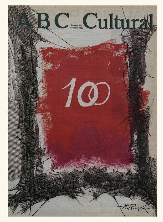 Portada de Manuel Rivera para el número 100 de ABC Cultural (1 de octubre de 1993)