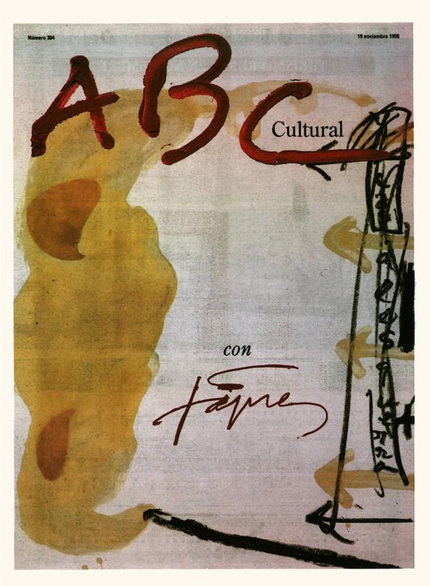 Portada de Antoni Tàpies para el número del 19 de noviembre de 1998