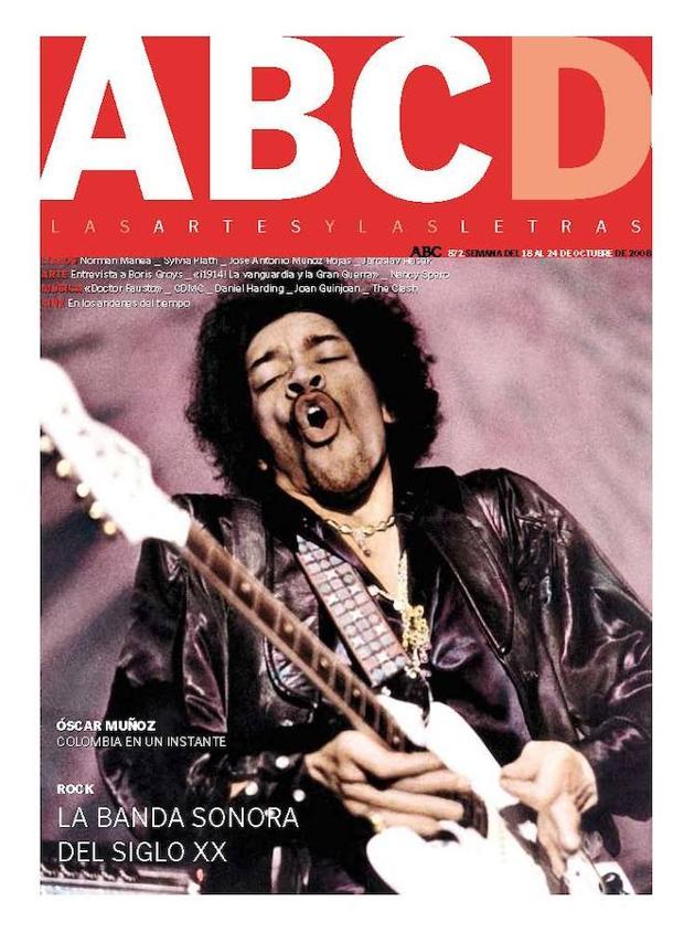 La música también ha tenido portadas. Jimi Hendrix en la del 18 de octubre de 2008
