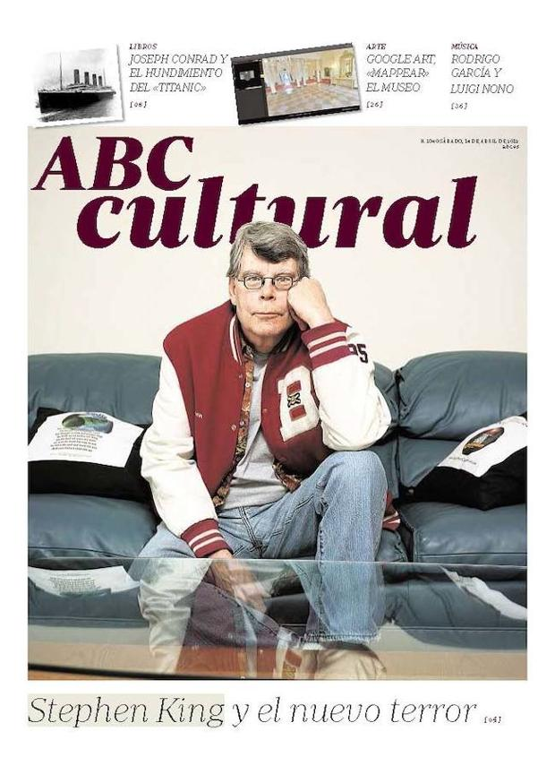 Stephen King, «el Charles Dickens del siglo XXI», fue portada el 14 de abril de 2012