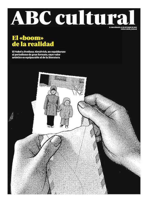 Otra portada comiquera para el número en el que se hablaba del Nobel a Alexiévich (31 de octubre de 2015)
