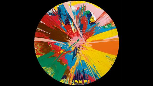 «Beautiful, shattering, slashing, violent, pinky, hacking, sphincter painting1», de Damien Hirst