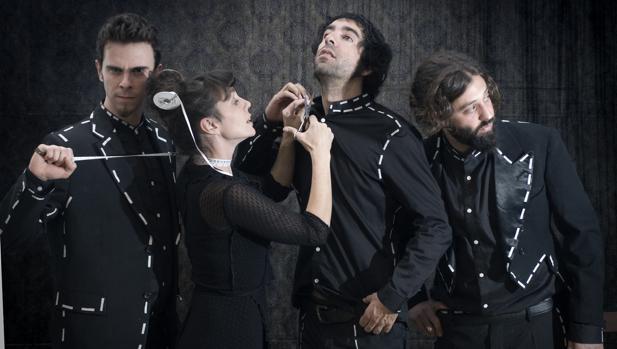 Los miembros de Impromadrid, en «Jardines»