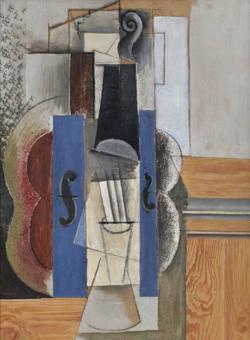 «Violín colgado en la pared», de Picasso