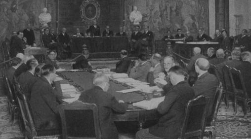 Sesión inaugural del congreso de 1934, en una de las dos únicas fotos que se conservan del evento y están en el Archivo de ABC