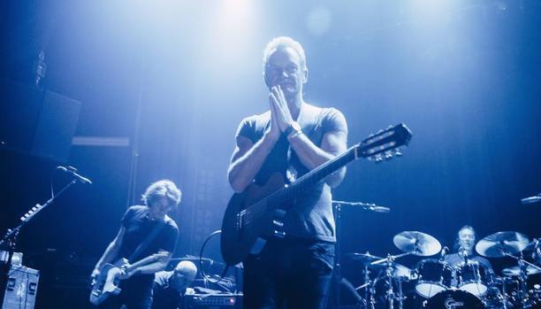 Sting durante su concierto de l pasado sábado en la sala Bataclan de París