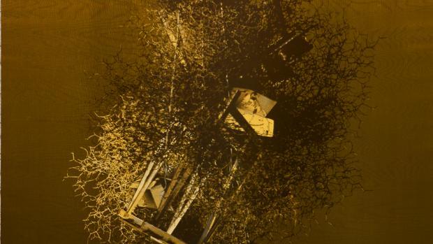 Obra de Javier Garcera de su retrospectiva «Que no cabe en la cabeza», en el Centro del Carmen (Valencia)