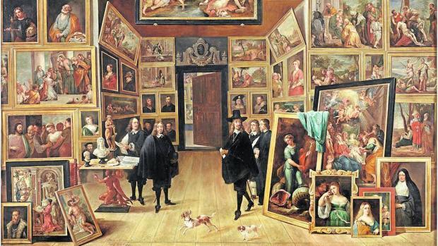 «El archiduque L. Guillermo en su galería de pinturas en Bruselas» (1651), de David Teniers