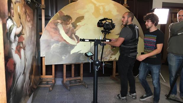 Un momento del rodaje de este documental en Sevilla