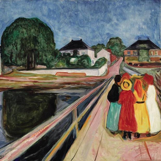«Las chicas del puente», de Edvard Much