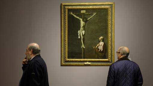 «Cristo crucificado contemplado por un pintor», de Zurbarán