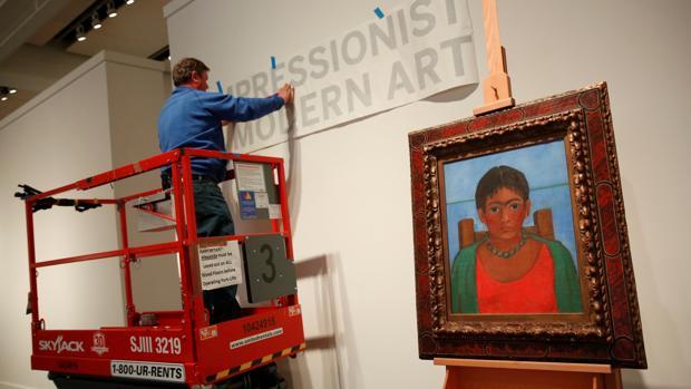 Ultiman los preparativos para la subasta de Sotheby's en Nueva York