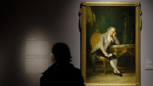 Así de pensativo y melancólico retrato Goya a Jovellanos