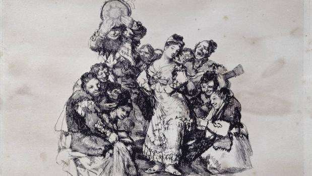 «El Vito». Estampa Litográfica de Francisco de goya.