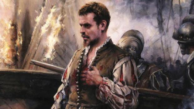 Cervantes, tras el combate en la galera Marquesa