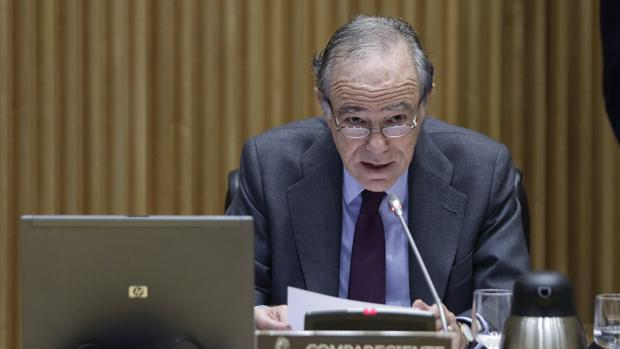 Gregorio Marañón, presidente del Teatro Real, durante su comparecencia en la Comisión de Cultura del Congreso