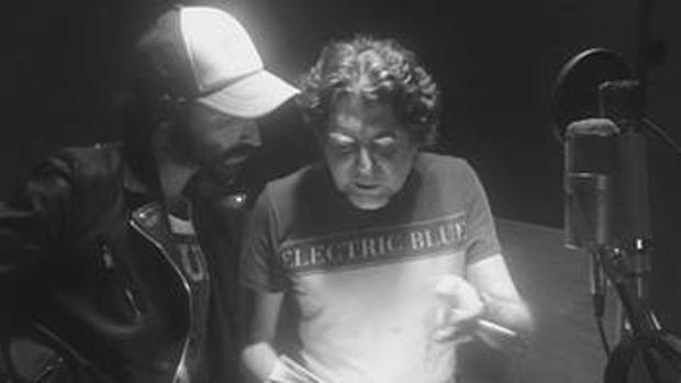 Ley Joaquín Sabina, en un momento de la grabación