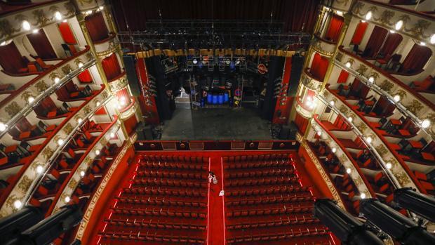 El interior del Teatro Calderón de Madrid