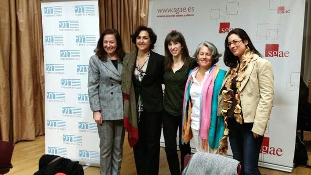 Varias de las participantes en un acto similar de la Sgae
