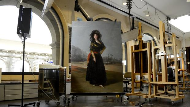 El cuadro de Goya, en el taller de restauración del Prado