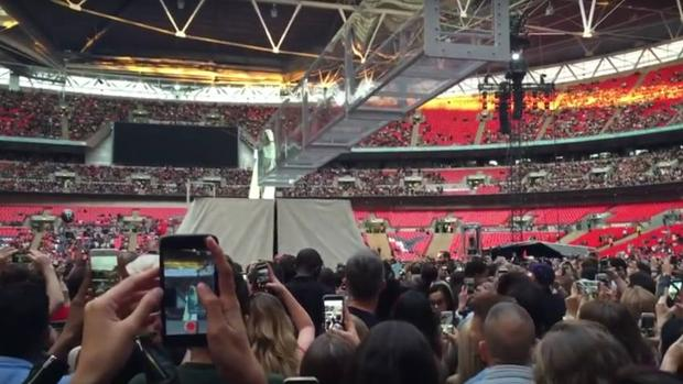 El «sold out» de Rihanna en Wembley, con gradas vacías