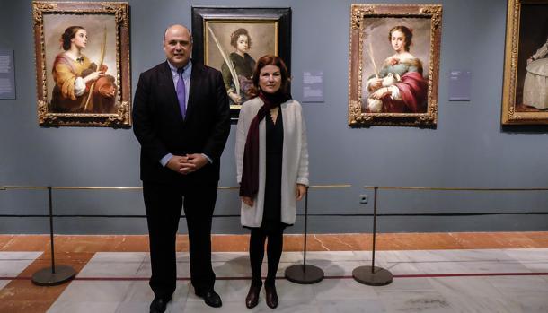 Mark Roglán, director del Meadows, y Anabel Morillo en la exposición de Focus