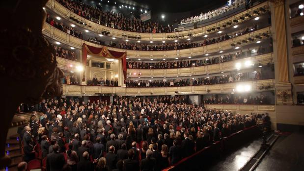 Imagen del interior del Teatro Real
