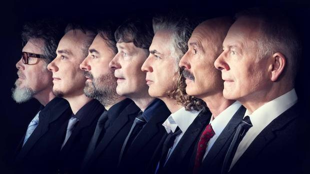 King Crimson, con Robert Fripp a la derecha del todo
