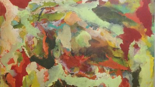 Detalle de «Sin título», óleo sobre lienzo de Cristina Rodrigo