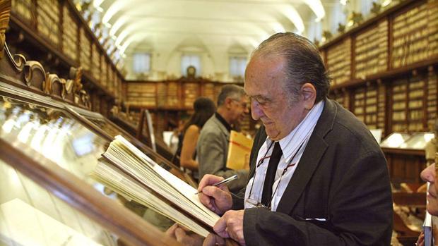 Ferlosio en la Biblioteca Casanatense (Roma, 2005)